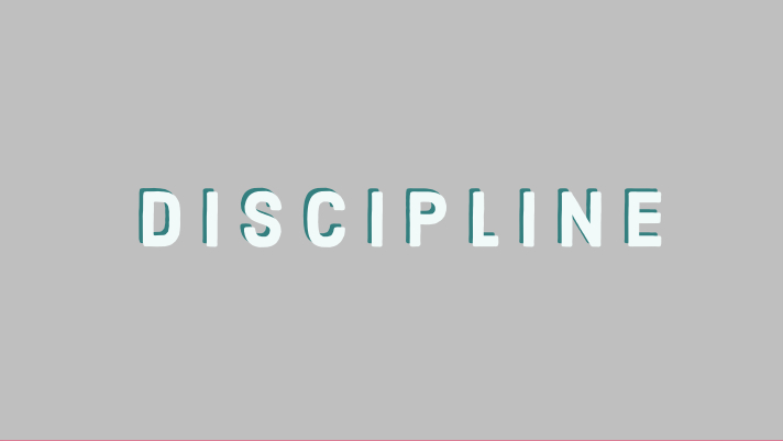 Discipline instead of motivation?