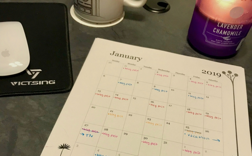 Creating a blogging schedule for 2019! ✨